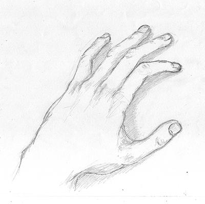 AVANT ! Dessin de sa main au crayon, par ©Thomas BRIE. DR. c. 2009.