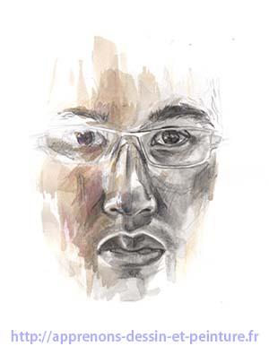 Dessin en cerveau droit : autoportrait ©d'Aurélien C., 2010. DR.