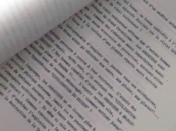 """Exemple du texte dactylographié d'un traducteur : un """"tapuscrit""""."""