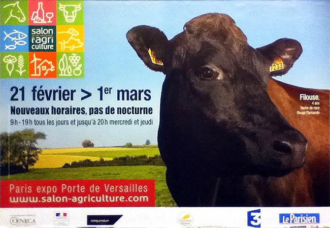 """Affiche du """"<em>Salon de l'agriculture</em>"""" de 2015. Photo prise dans le métro par Richard Martens."""