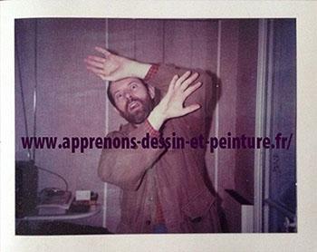 """Recherches de Richard Martens. La photo """"Polaroid"""" finale, pour la couverture de """"La Mouche et l'araignée"""", roman policier de Frank Parrish, collection Série noire, 1987."""