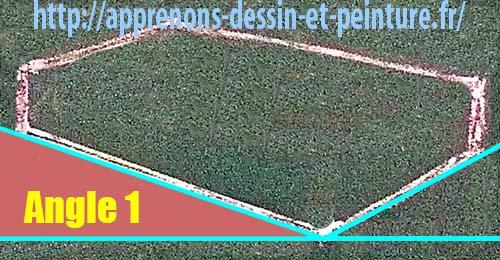 """Figure 1 : création des angles extérieurs par l'ajout d'une ligne horizontale imaginaire : un """"Angle 1"""". Schéma par Richard Martens."""