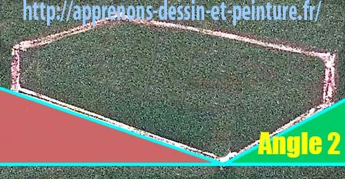 """Figure 2 : création des angles extérieurs par l'ajout d'une ligne horizontale imaginaire : un """"Angle 2"""". Schéma par Richard Martens."""