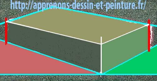 Figure 17 : silhouette d'un parallélépipède (hexagone) AVEC LE REMPLISSAGE DES TROIS COTES VISIBLES, par Richard Martens.