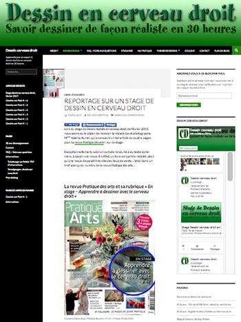 """Blog """"http://dessin-cerveau-droit.fr/"""" : page d""""accueil."""