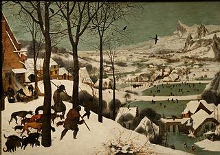 Les Chasseurs dans la neige, par Pieter Brueghel l'Ancien (1565).