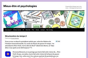 """Blog """"http://mieux-etre-et-psychologies.fr/"""" : page d""""accueil."""