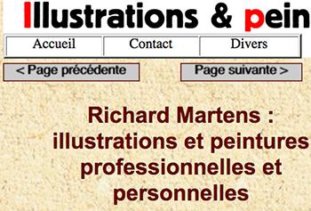 """Page d'accueil de mon site d'illustrations personnelles & professionnelles : """"http://richard-martens.eu"""""""