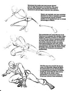 "Exemple de la méthode de dessin du livre ""How to draw Comics - The Marvel way"" de John Buscema & Stan Lee."