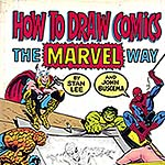 "Extrait de la couverture du livre ""How to draw Comics - The Marvel way"" de John Buscema & Stan Lee."