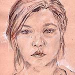 Dessin en cerveau droit : extrait d'un autoportrait de ©Fayza M., 2010. DR.