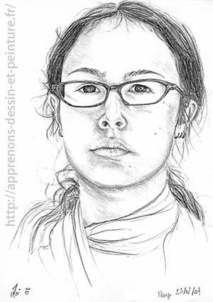 Dessin en cerveau droit : autoportrait de ©Mony C., 2007. DR.
