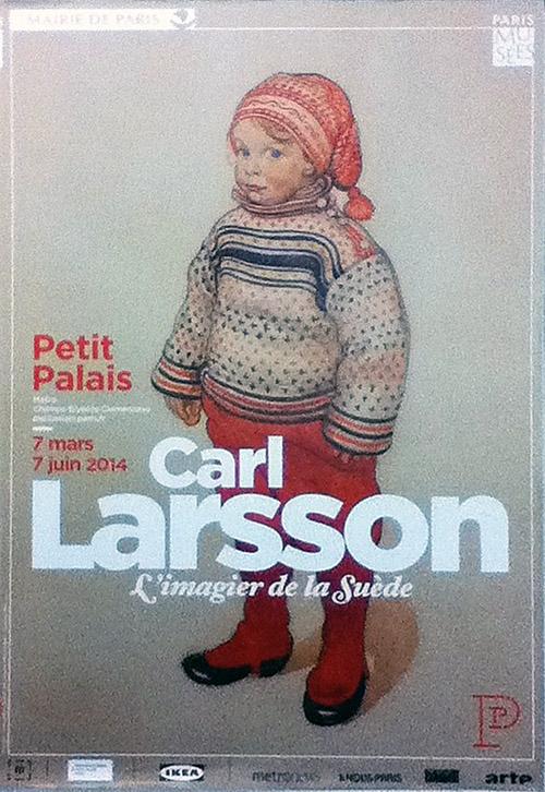 Affiche de l'exposition Carl Larsson au printemps 2014, dans le métro parisien. Photo : R. Martens
