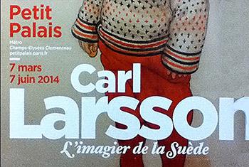 Exposition Carl Larsson au printemps 2014. Extrait de l'affiche, dans le métro parisien. Photo : Richard Martens.