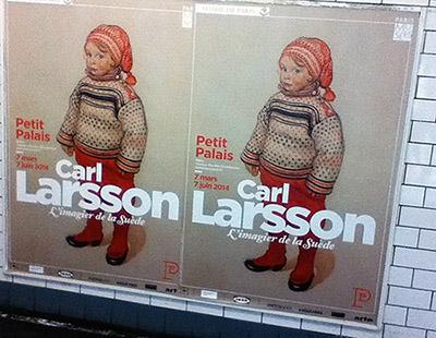 Affiches de l'exposition Carl Larsson, dans le métro parisien. Photo : Richard Martens.