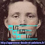 Proportions d'une tete d'adulte – 2