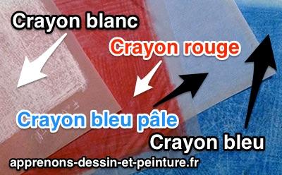 """Des """"calques-carbones"""" de couleurs, réalisés aux crayons de couleurs. Photo : ©Richard Martens."""