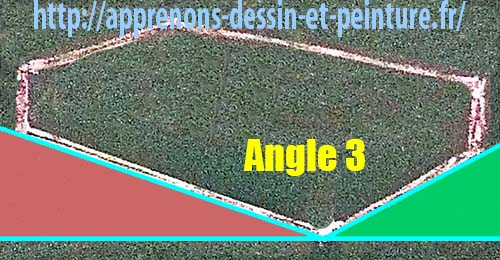 """Figure 3 : création des angles extérieurs par l'ajout d'une ligne horizontale imaginaire ET """"l'Angle 3"""", intérieur. Schéma par Richard Martens."""