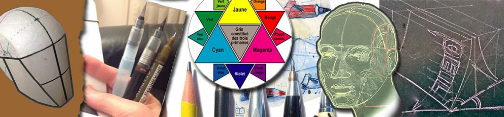 """Bandeau d'image de tete pour le blog """"apprenons-dessin-et-peinture.fr"""" par Richard Martens."""
