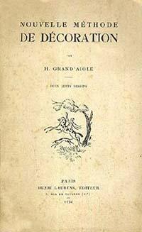 """Couverture de la plaquette de H. Grand'Aigle : """"Nouvelle méthode de décoration""""."""