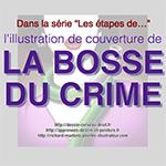 """Vidéo des étapes de la réalisation, par Richard Martens, de la peinture de couverture du roman policier """"La Bosse du crime""""."""