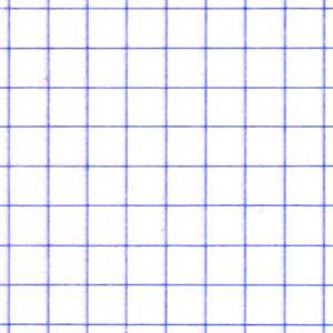 Papier blanc à petits carreaux, ou carrés de 5 mm.