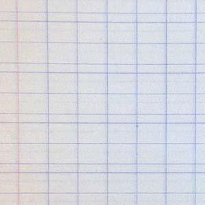 Papier blanc pour écriture à lignes et interlignes bleues.